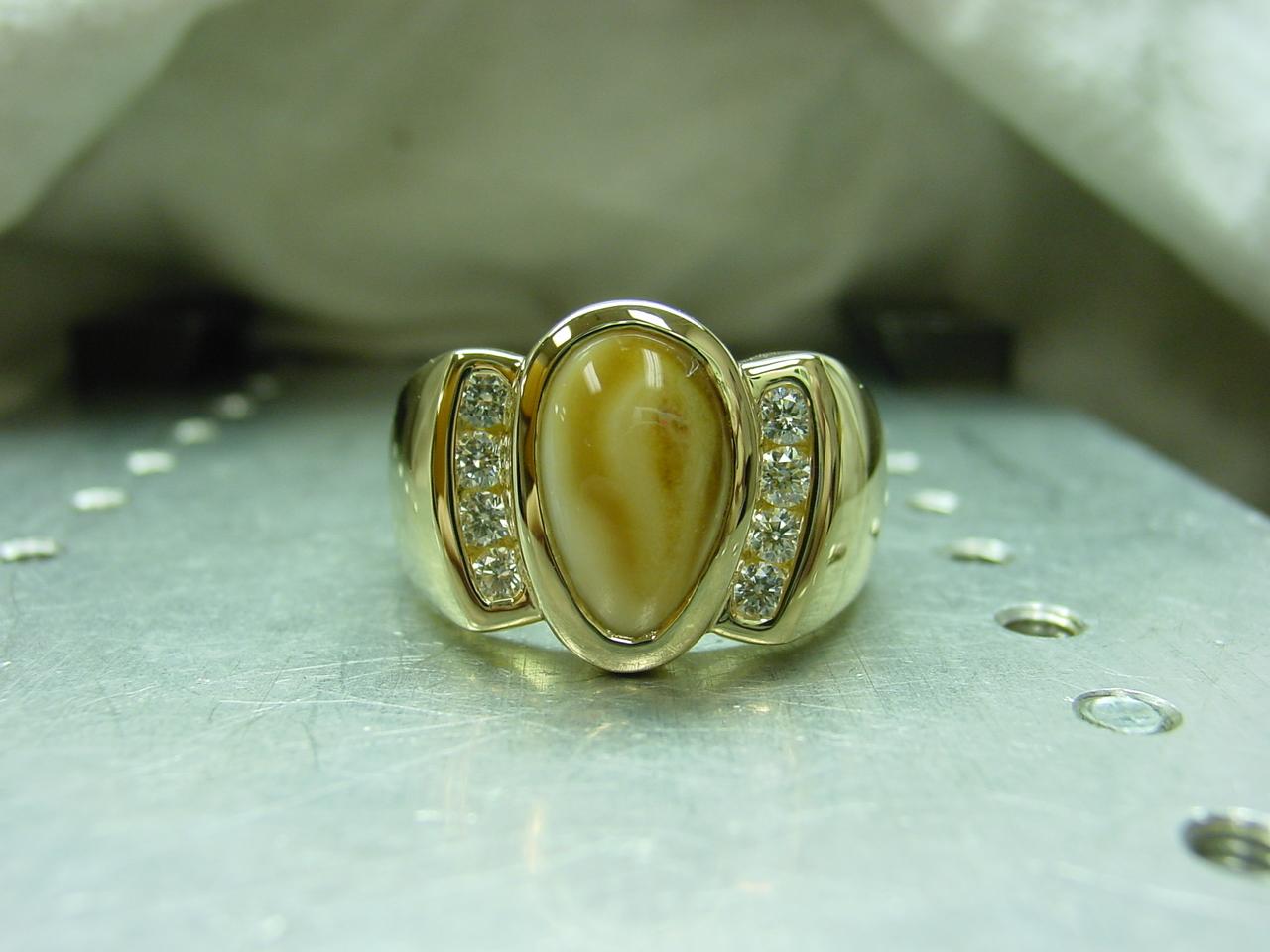 finished elk ring